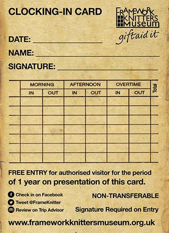 clocking-in card